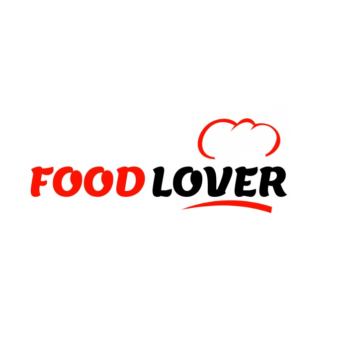 black and red food logo