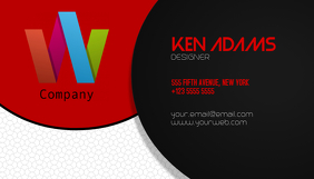 Black and red landscape Business Multipurpose Card Template