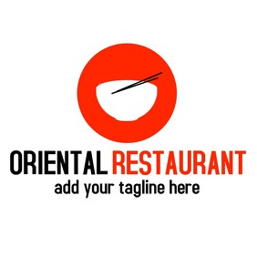 Black and red logo oriental restaurant template