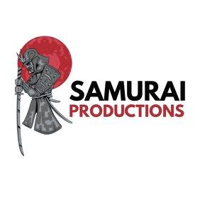 Black and red samurai logo