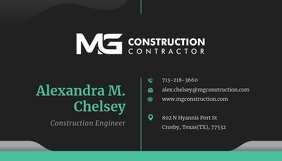 Black and Teal Business Card