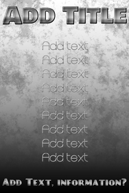 black and white (grayscale) metallic text and coarse back