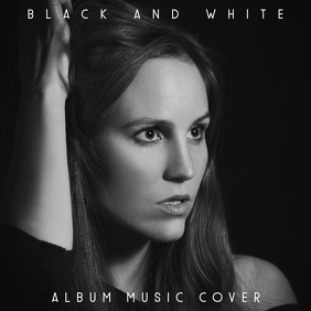 black and white album cover