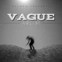 Black and white album cover template