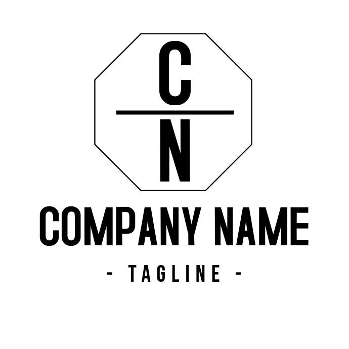 Black and white Alphanumeric geometric Logo