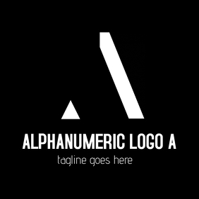 Black and white alphanumeric minimal A logo