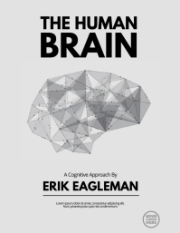Black and White Brain Book Flyer