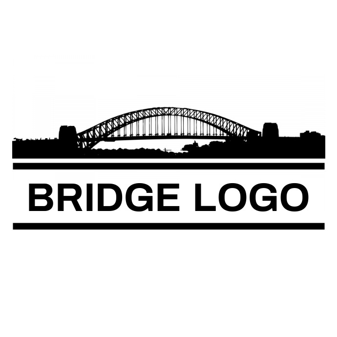 Black and white Bridge logo 1