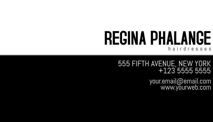 black and white business card template Kartu Bisnis
