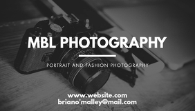 Black and white business card photography