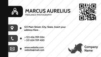 black and white business card template design Визитная карточка