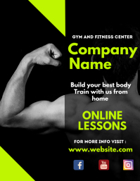 Black and white business gym flyer