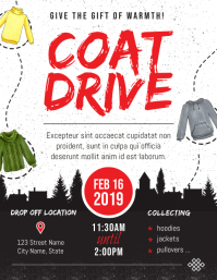 Black and White Coat Drive Flyer