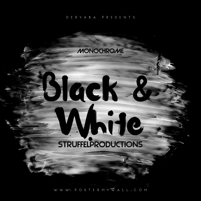 Black and White Dark CD Cover Template