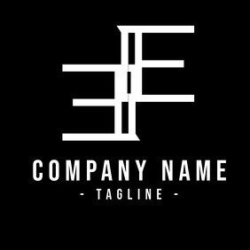 Black and White Double E logo template