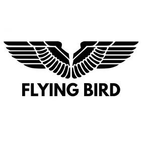 black and white eagle animal bird logo