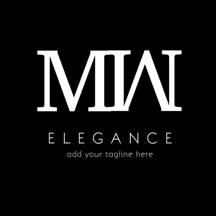 Black and white elegant logo