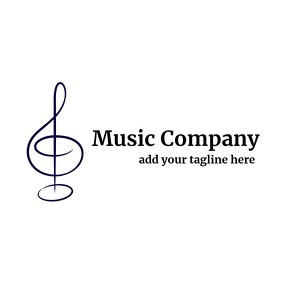 Black and white elegant music logo