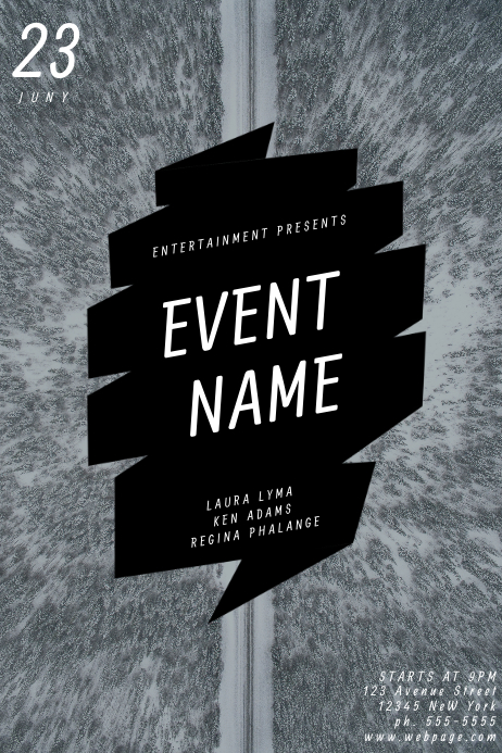 Customizable Design Templates For Black Event Flyer Template