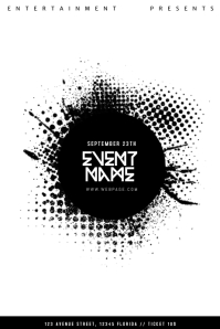 Black and White Event Flyer Template