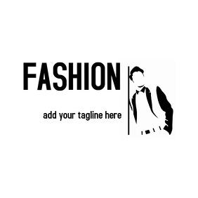black and white fashion logo