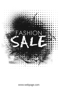 Black and White Fashion Sale Flyer Template
