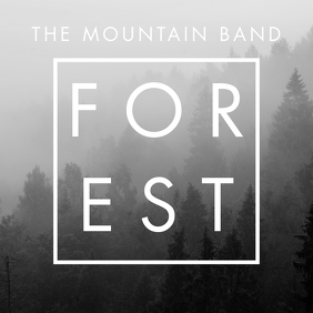 black and white forest country album design t template