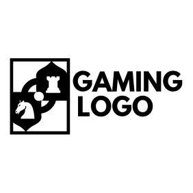 black and white gaming logo