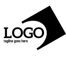 black and white geometric logo or app icon
