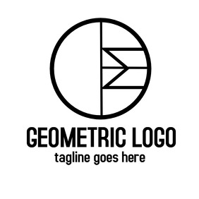 black and white geometrical logo
