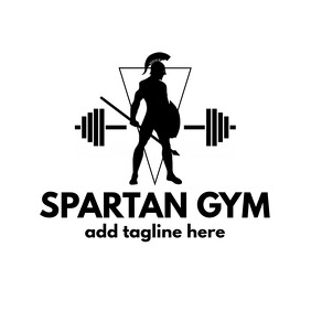 black and white gym logo Logotyp template
