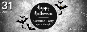 Black and White Halloween Facebook Cover Template