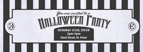 Black and White Halloween Party Facebook Cover