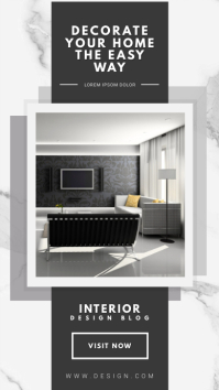 Black and White Interior Design Blog WhatsApp