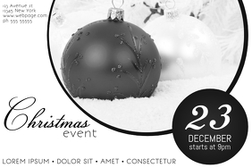 Black and White Landscape Christmas Event Flyer Template