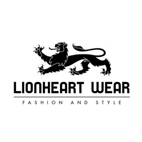 black and white lion logo Logótipo template