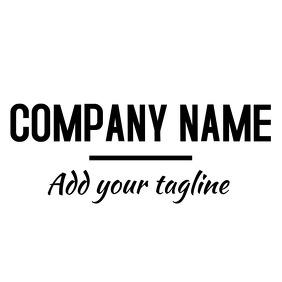black and white logo Логотип template