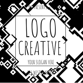 BLACK AND WHITE LOGO TEMPLATE