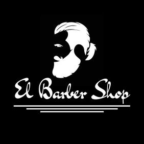 Black and white man bun logo