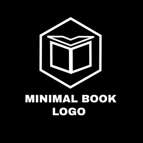 black and white minimal book logo