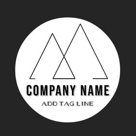 Black and white minimal logo design