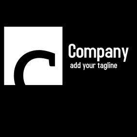 black and white minimal logo or icon