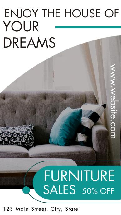 black and white modern elegant furniture inst Instagram Story template