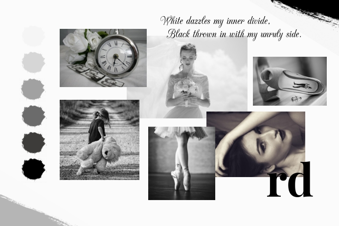 Black and White Moodboard Poster template