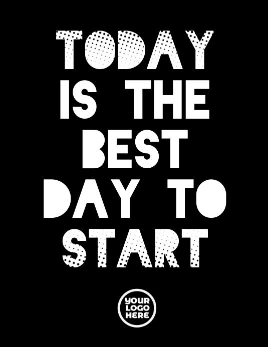 Black and White Motivation Poster