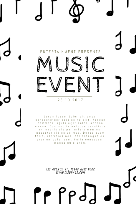 Black And White Music Event Flyer Template Postermywall