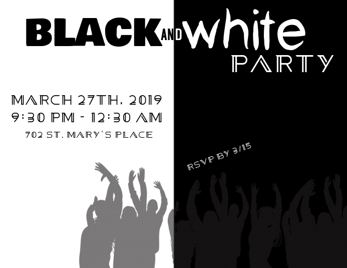 Black and White Party Pamflet (VSA Brief) template