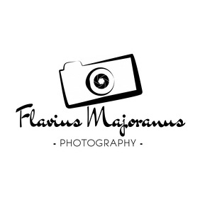 Black and white Photography logo Логотип template