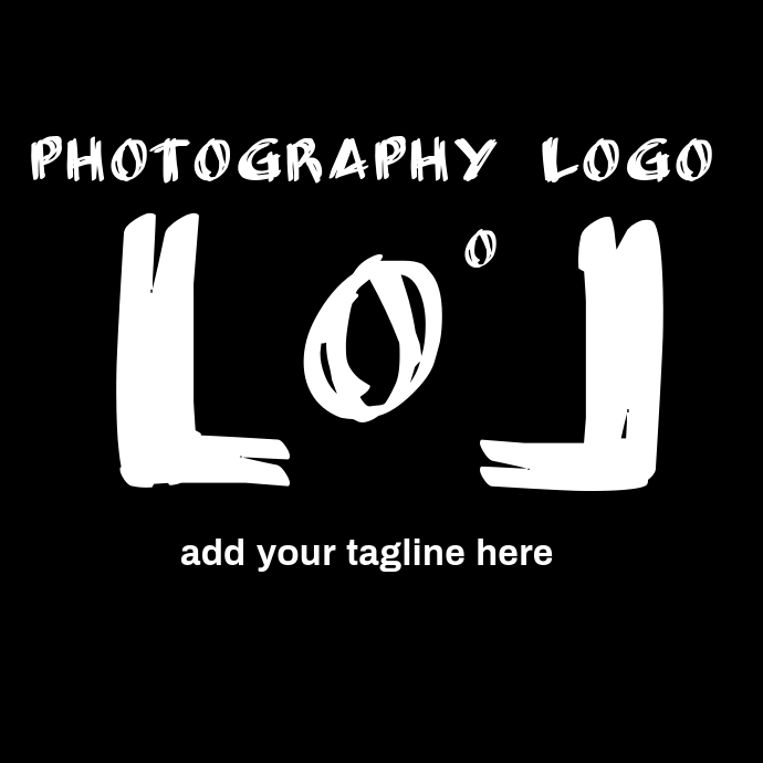 Black and white photography modern logo