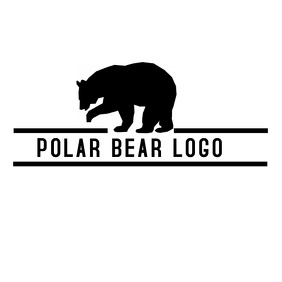 black and white Polar bear logo